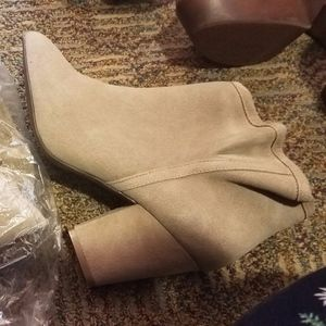 ShoeMint Esther Size 9 Booties in Taupe